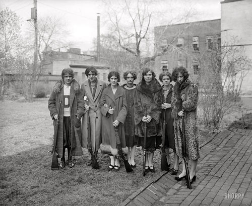 Girls' rifle team of Drexel Institute, D.C., 1925